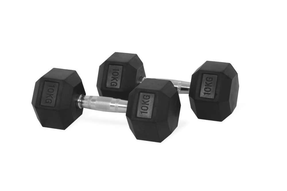 3ae8b352c GYM   SPORTS    Weights    dumbbell 10 kg hexagon - Ourmarket24